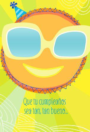 Sunglasses and Sunshine Spanish-Language Birthday Card for Child