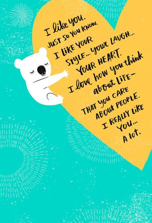 Heart With Koala Bear Religious Encouragement Card