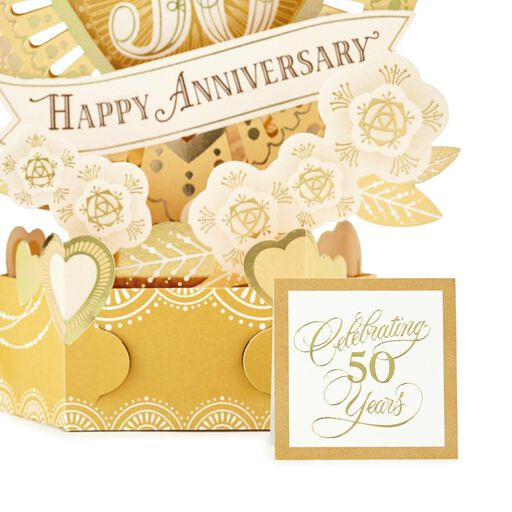 celebrate the years pop up 50th anniversary card