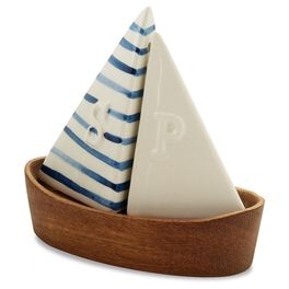 Mud Pie® Sailboat Salt and Pepper Shaker Set, , large