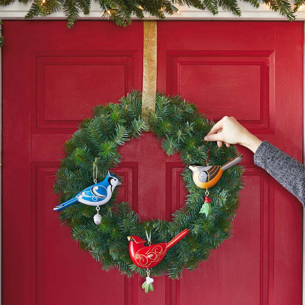 Oversized Outdoor Christmas Ornaments.Birds Oversized Outdoor Ornaments Set Of 3