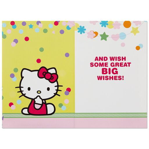 ad55fbfaf556 ... Hello Kitty® Big Wishes Musical Birthday Card With Light