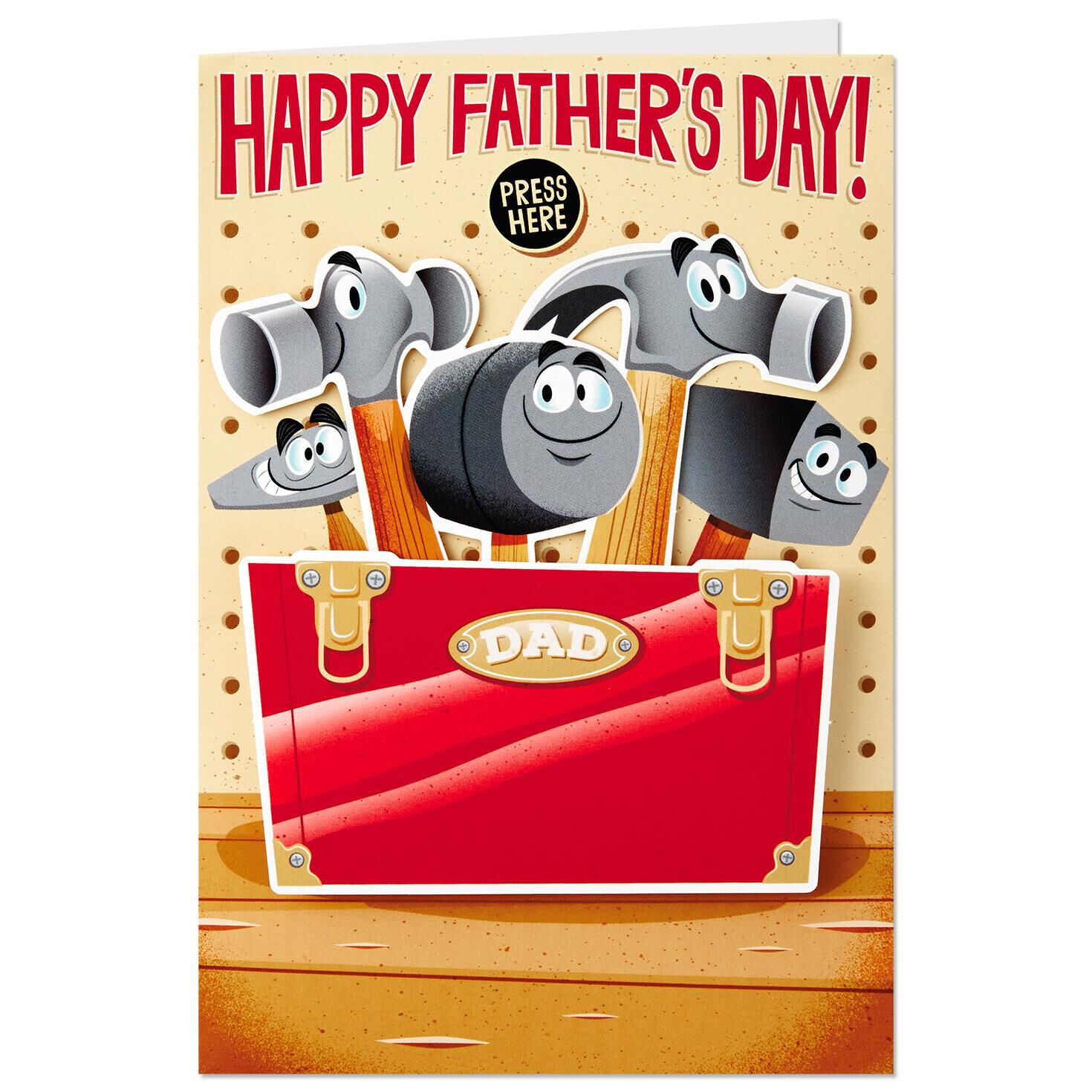 Hammers and Tool Box Funny Musical Father s Day Card With Motion