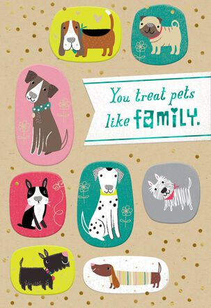 Family Pets Thank You Card for Dogwatcher