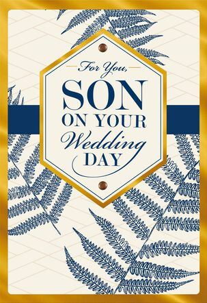 Love and Pride Wedding Card for Son