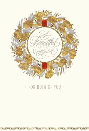 Son and Love Wreath Christmas Card