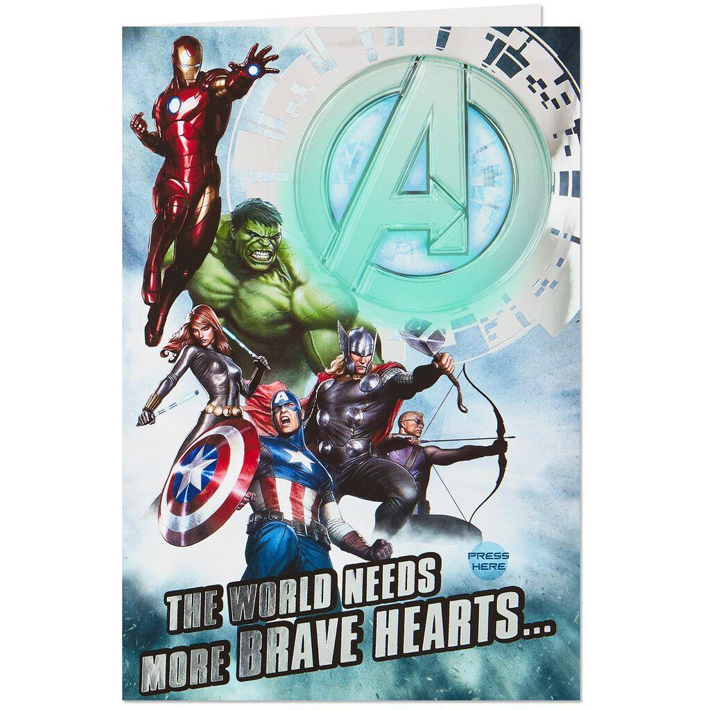 Marvel Avengers Legendary Musical Birthday Card With Light