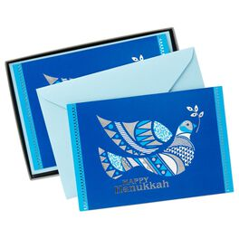Decorated Dove Hanukkah Cards, Box of 16, , large