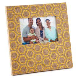 Gold-Foil Burlap Picture Frame, 4x6, , large