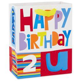 """Happy Birthday 2 U Medium Gift Bag, 9.5"""", , large"""