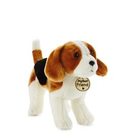Tricolored Hound Dog Small Stuffed Animal, , large