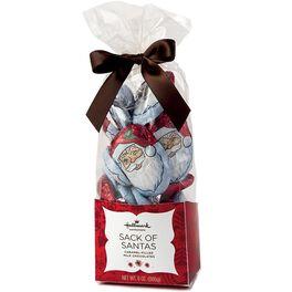 Foil-Wrapped Caramel-Filled Chocolate Santas, 7.5 oz., , large