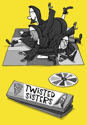 Twisted Sisters Funny Birthday Card