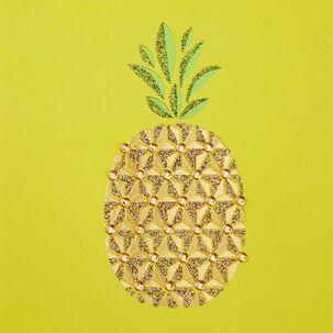 Pretty Pineapple Blank Card