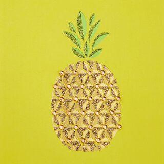 Pretty Pineapple Blank Card,