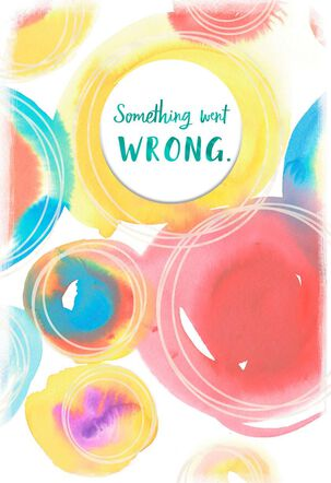Watercolor Circles I'm Sorry Apology Card