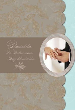 Rejoice in Blessings Wedding Card
