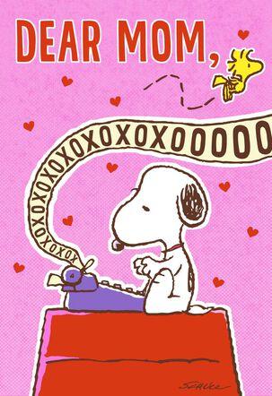 Peanuts® Snoopy XOXO Mom Valentine's Day Card