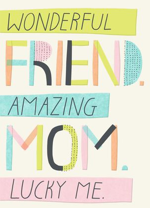 Wonderful Friend Mother's Day Card