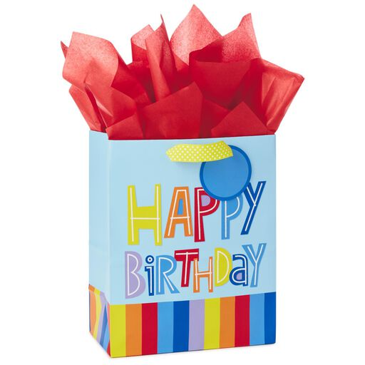 Happy Birthday Rainbow Medium Gift Bag With Tag And Tissue 95