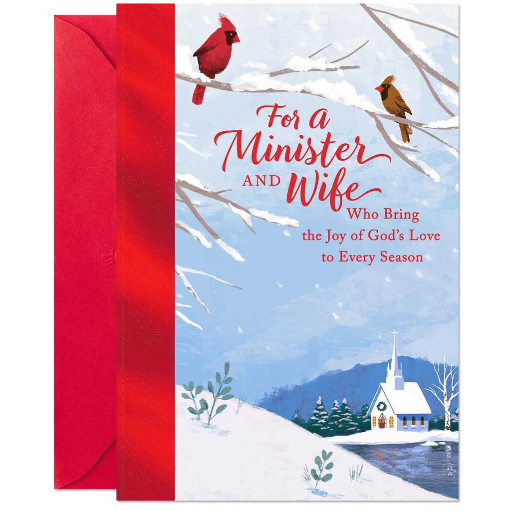 Religious Christmas.Celebrating Your Ministry Religious Christmas Card For Minister And Wife
