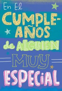 Fun and Bold Lettering Special Person Birthday Card,