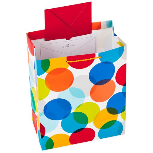 """... Happy Birthday Dots Large Gift Bag With Tissue, 13"""","""