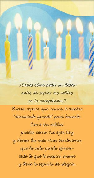 Make a Wish Spanish-Language Birthday Card