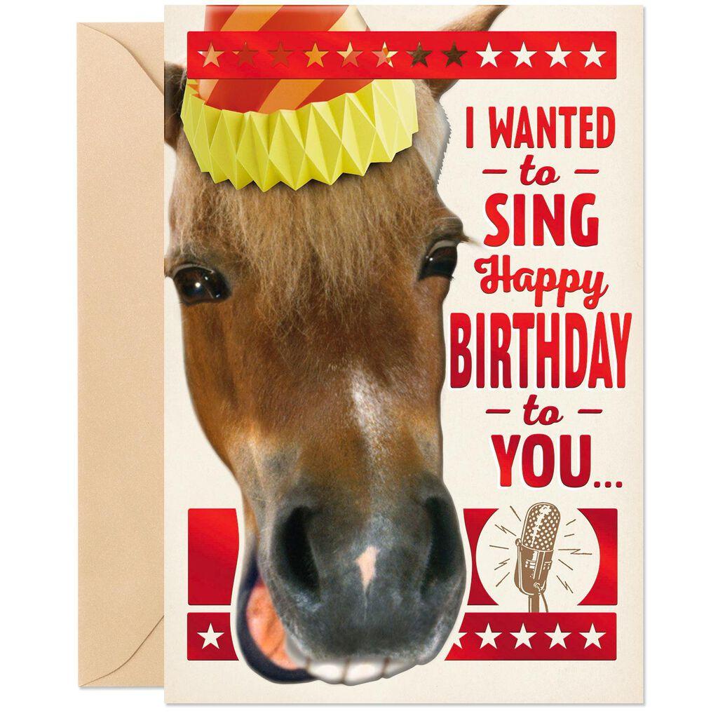 Little Horse Birthday Card