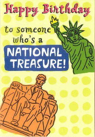 National Treasure Funny Birthday Card