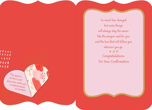 Step of Faith Religious Confirmation Card for Granddaughter,
