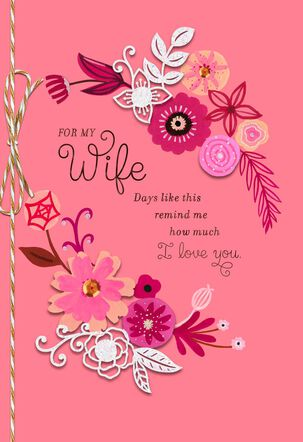 Layered Floral Valentine's Day Card for Wife