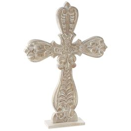 Large Carved Wood Cross, , large