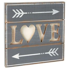 Love Rustic Wood Sign, , large