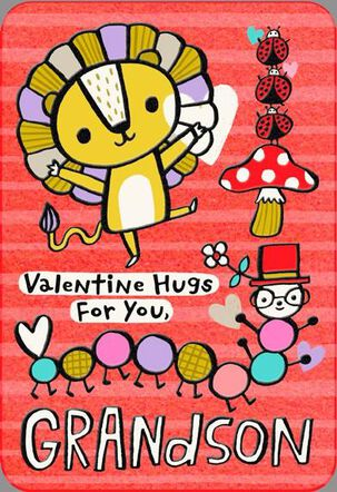Hugs For Grandson Valentine's Day Card