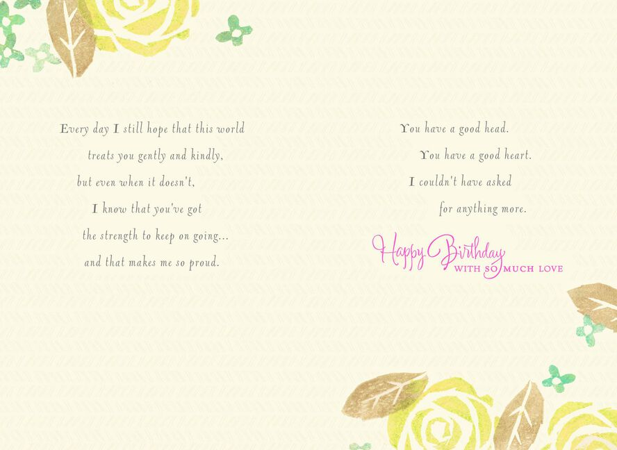 From The Moment You Were Born Daughter Birthday Card Greeting