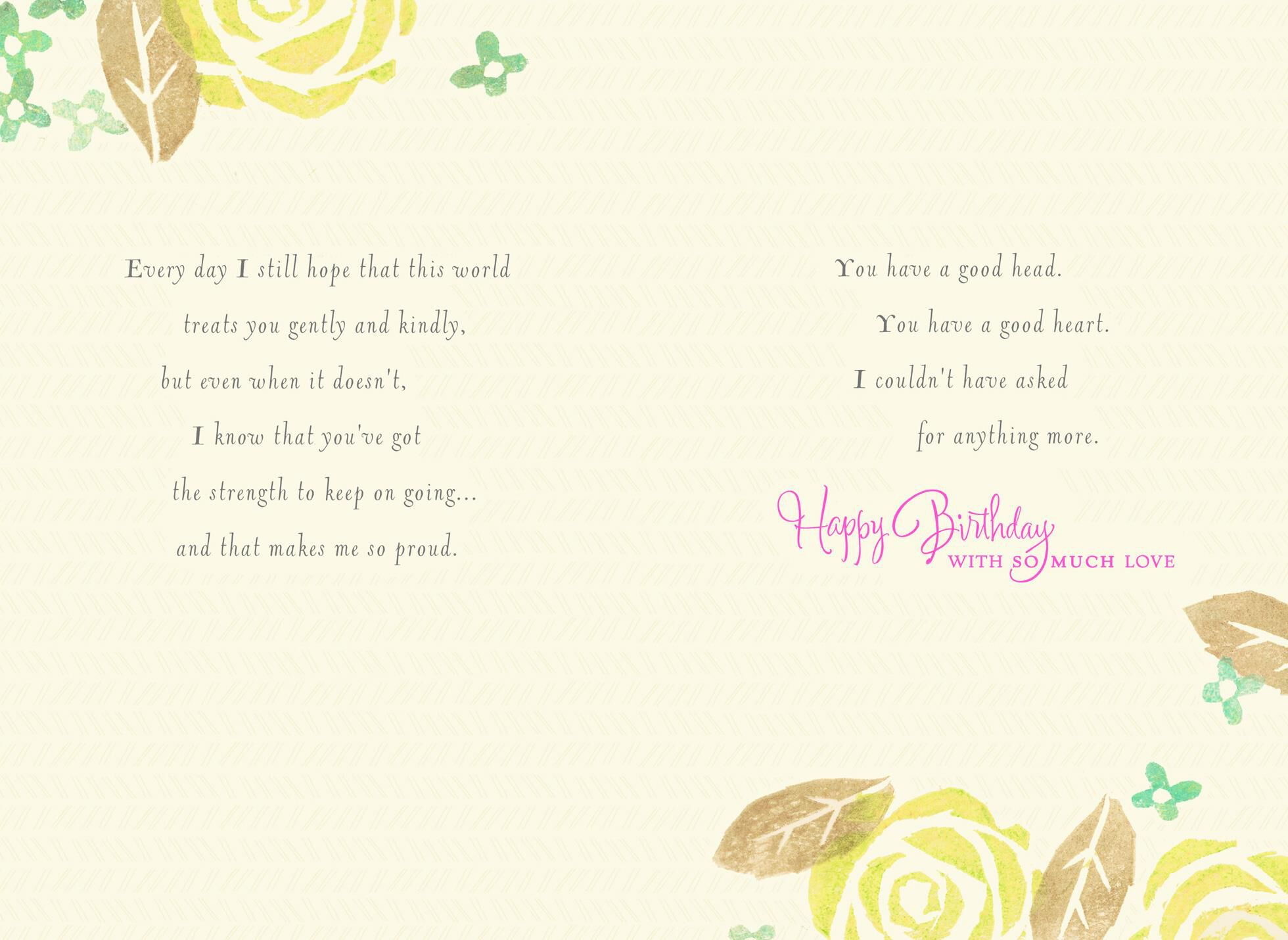 From The Moment You Were Born Daughter Birthday Card,