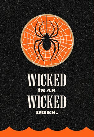 Wicked Black Spider Halloween Card