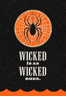 Wicked Black Spider Halloween Card,