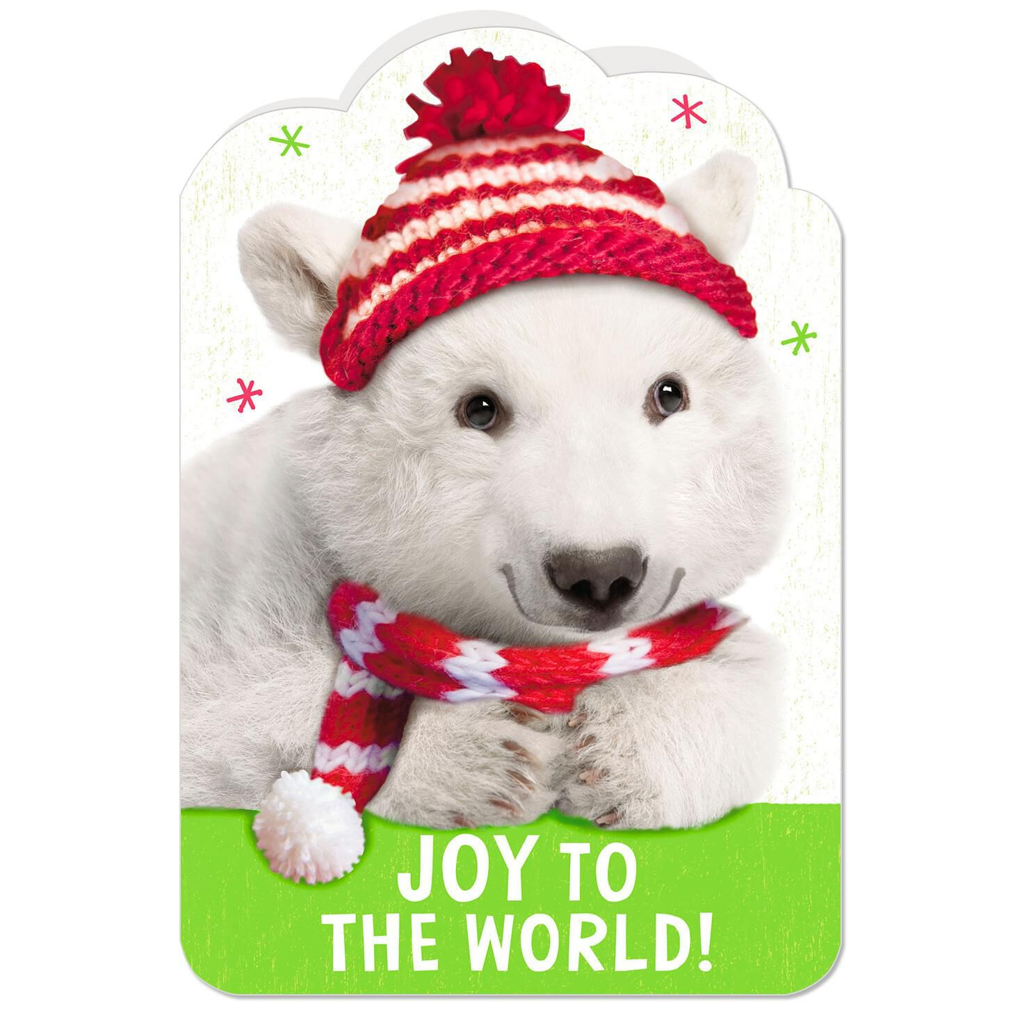 Joyful Polar Bear Christmas Card Greeting Cards Hallmark