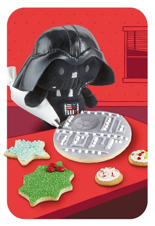 itty bittys® Darth Vader™ Death Star™ Cookie Christmas Card