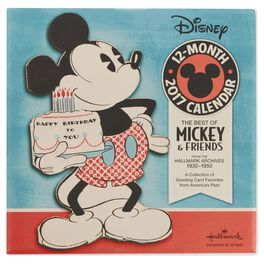 The Best of Mickey & Friends 1930 – 1950 2017 Wall Calendar, , large