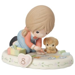 Precious Moments® Growing in Grace—Age 8 Brunette Girl Porcelain Figurine, , large