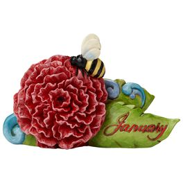 Jim Shore® January Garnet Birthstone and Carnation Flower Figurine, , large