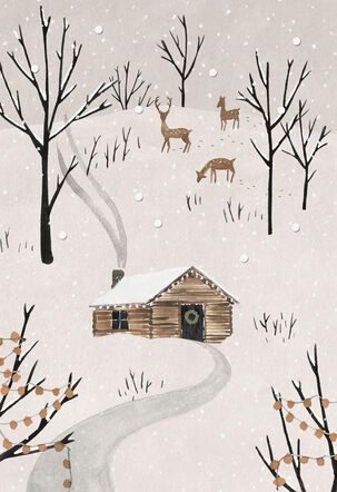 Cabin in the Woods Christmas Card