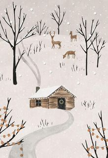 Cabin in the Woods Christmas Card,