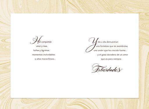 Wonderful Years Spanish-Language Anniversary Card,