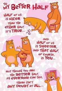 Lucky Half Valentine's Day Card,