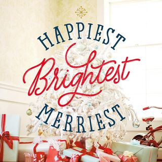 Happiest Brightest Merriest Tree Musical Christmas Card,