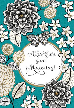 German-Language Mother's Day Card